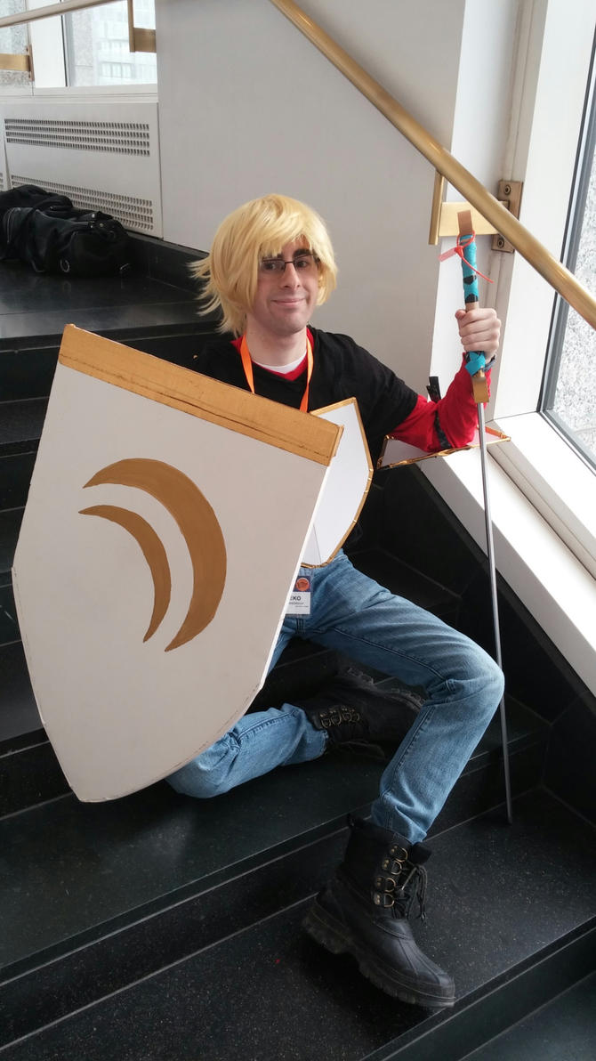 Anime Boston 2015- On the stairs of Beacon Academy by Robinsu