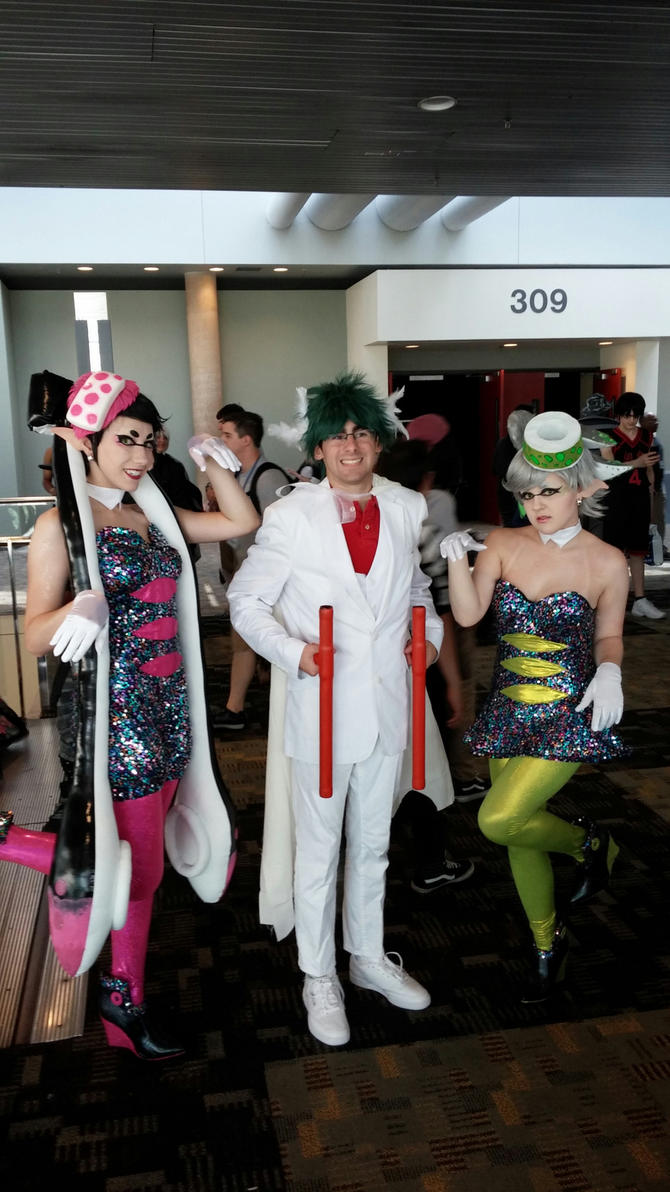 Otakon 2015- Mega Gallade and the Squid Sisters by Robinsu