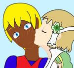 Itsuki kissed Kierans cheek