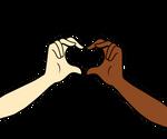 Kieran and Kristen making heart hands
