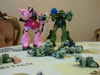 Gundam Family by urbanotaku