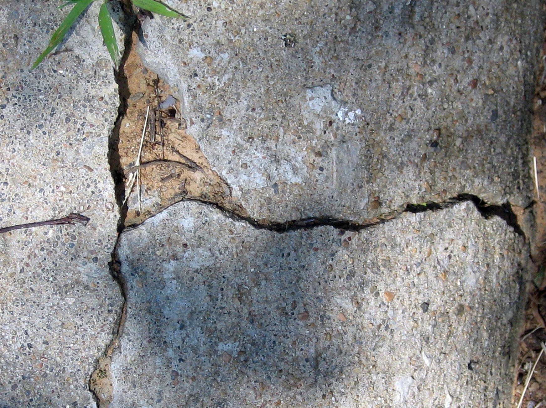 Crack in Sidewalk by stock-by-silver