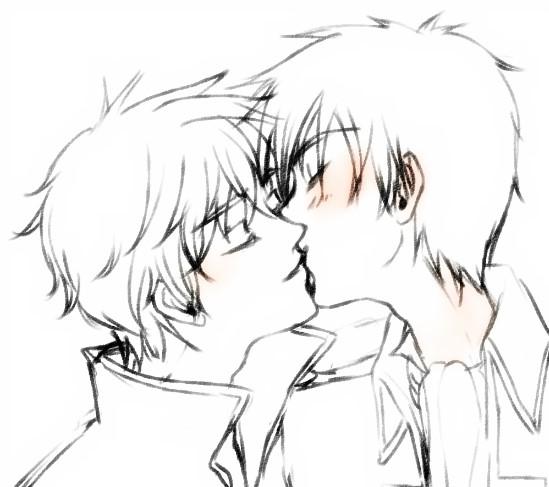 Gintama - gintoki x hijikata kiss by eeju
