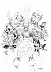 Marvel Civil War Variant by BrendanPark