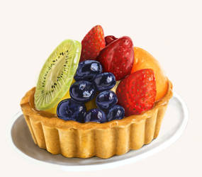 Fruit tart by BrendanPark