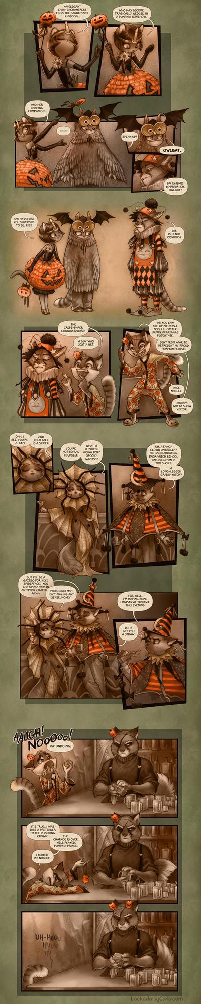 Lackadaisy Halloween by tracyjb