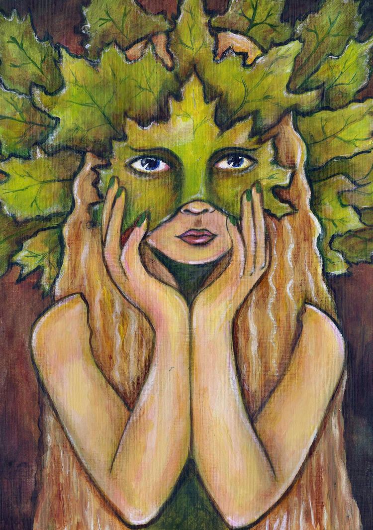 Green Woman by FaerySayles
