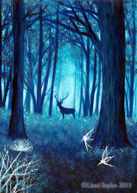 magical deep blue forest by faerysayles on deviantart