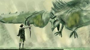 gameSketch 36: Shadow Colossus by ixaarii