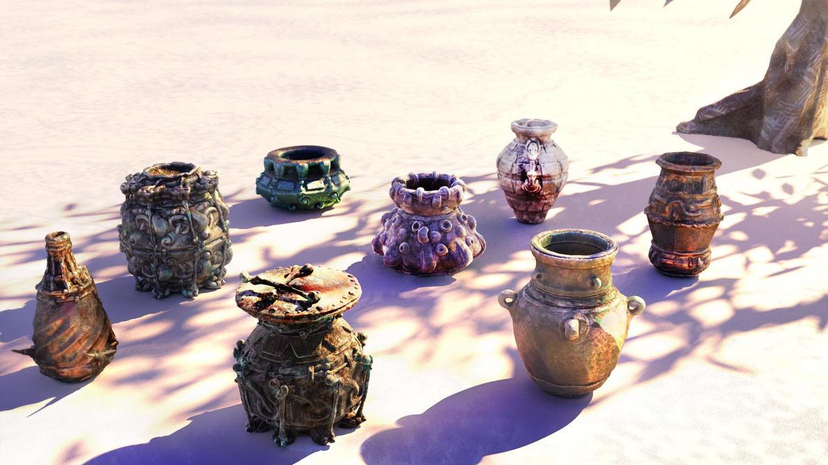 Wardrum Pottery by ixaarii