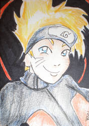 Naruto Sketch Card by HFactory