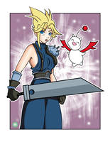 Cloud from Final Fantasy VII by HFactory