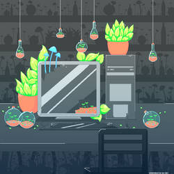 i think plants and computers could get along
