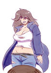 Deltarune - Human Susie (drawn by my brother)