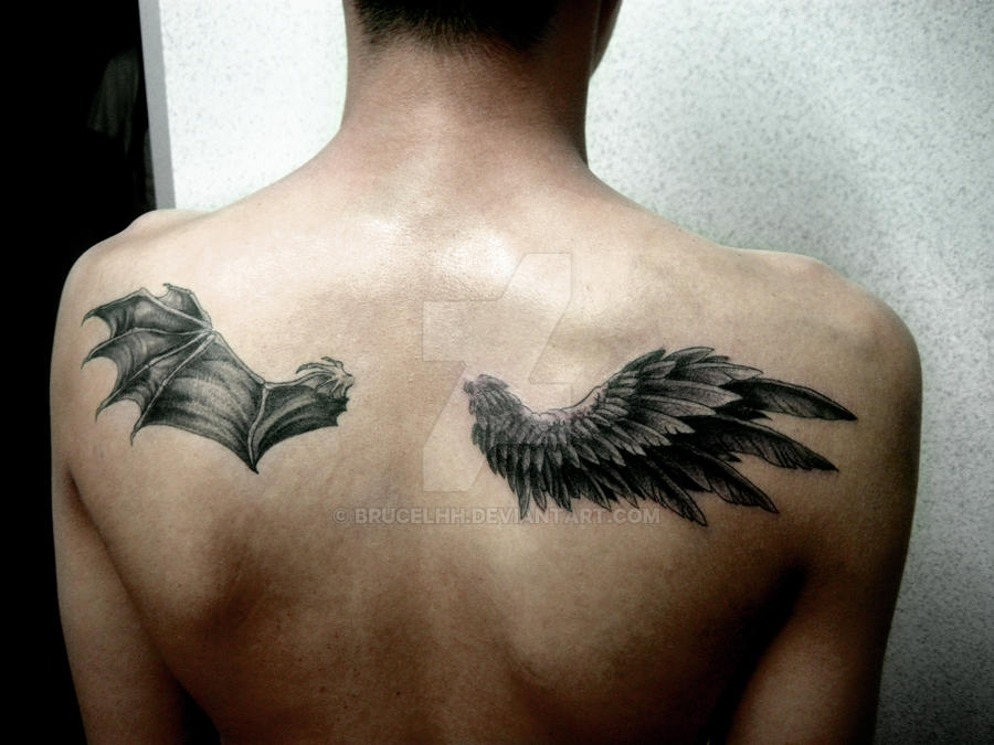 angel devil s wings tattoo by brucelhh on deviantart rh brucelhh deviantart com angel devil wing tattoo designs devil wing tattoo