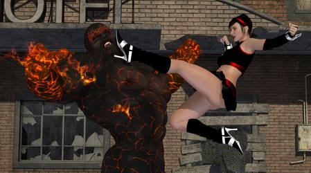 Dartgirl vs. The Magmamog Page 01 by amazonarrow