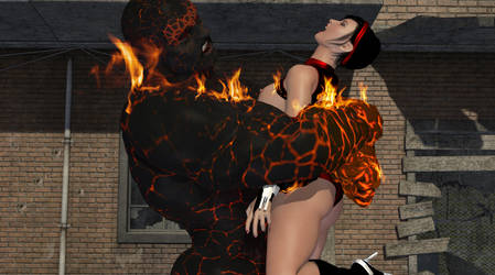 Dartgirl vs. The Magmamog Page 02 by amazonarrow