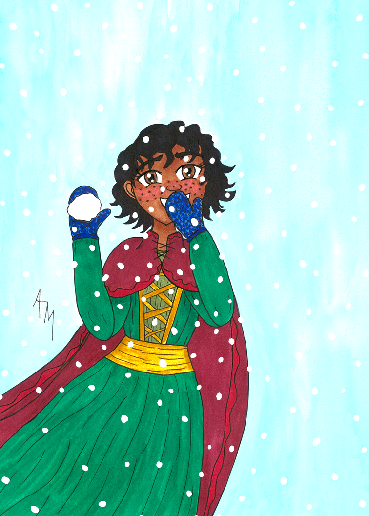 Snowball Fight by Drayah