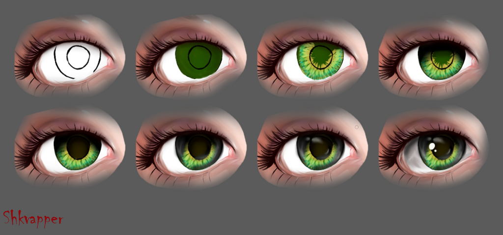 tutorial on painting eyes by shkvapper by Shkvapper