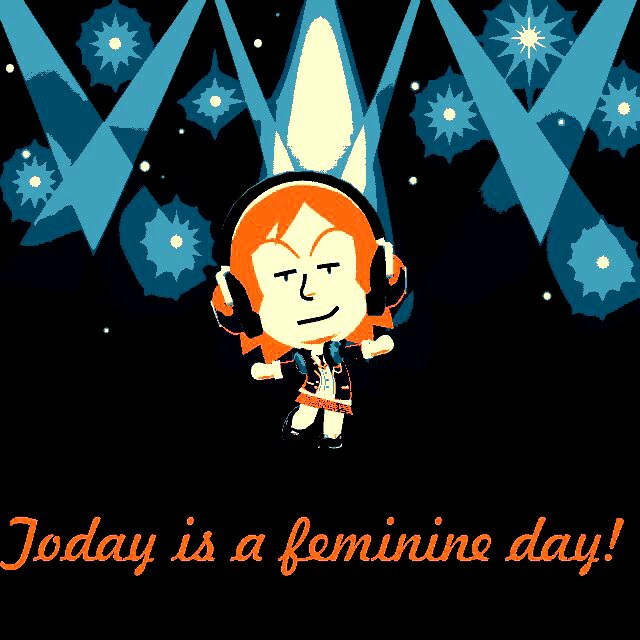 Today? It's a feminine day! by Benusamuneth