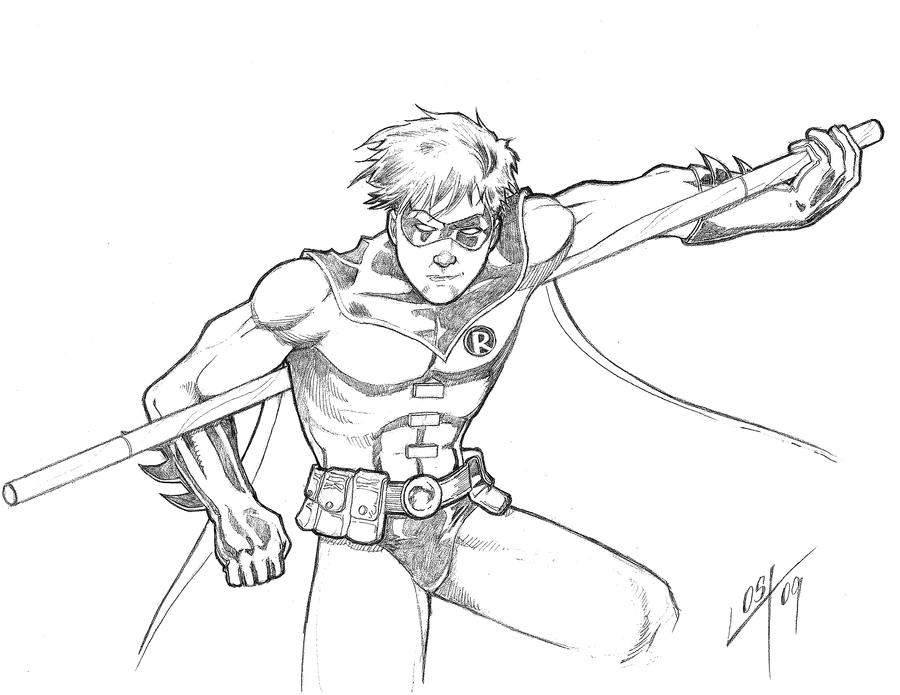 raven superhero coloring page