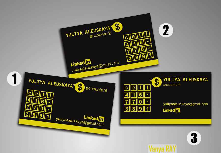 Business-card Accountant (Initial Variations) by VanyaRAY on DeviantArt