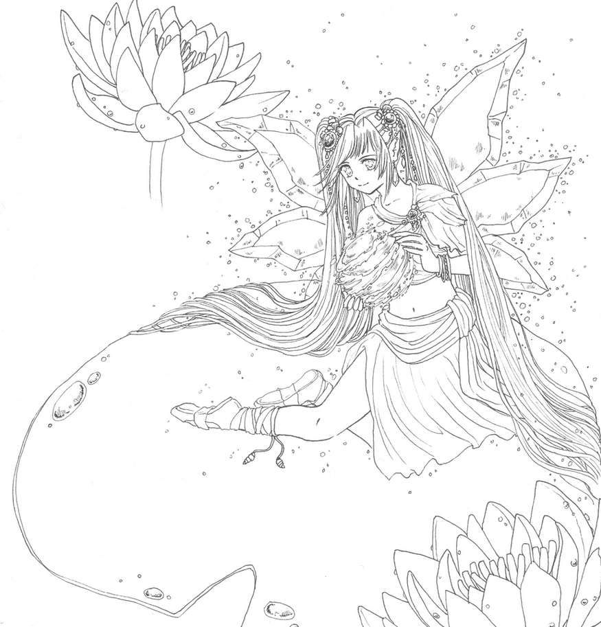 water fairies coloring pages - photo#4