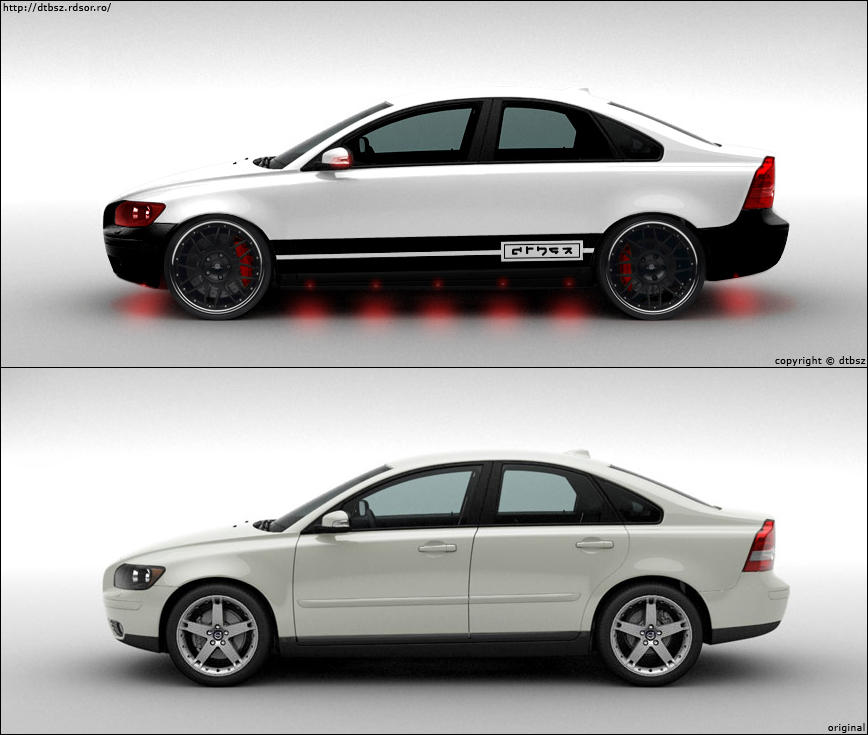 Volvo S40 Wallpaper: Volvo S40 White By Dtbsz On DeviantArt