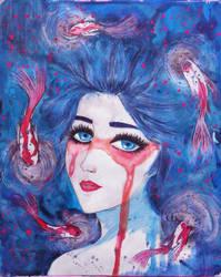 Fish Girl by sizikiart