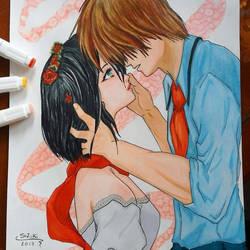 [SIZIKIART] My Fanart of Eren x Mikasa by sizikiart