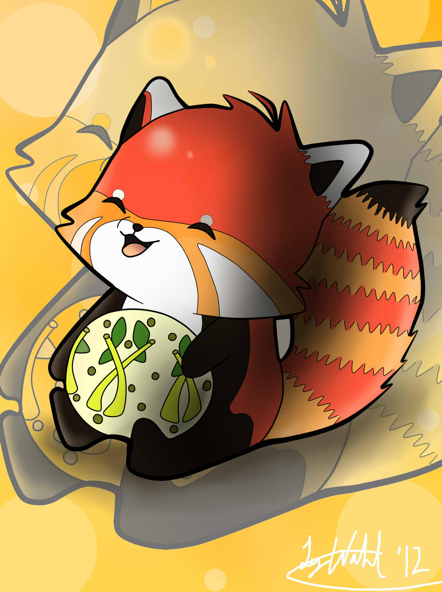 Chibi red panda - photo#9