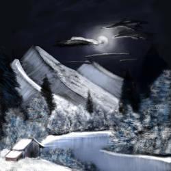 Joy of Painting S1E6- Winter Moon