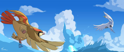 Pidgeot Vs Swanna by SirOpacho