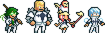 The Four Pixel Devas by AdventureIslands