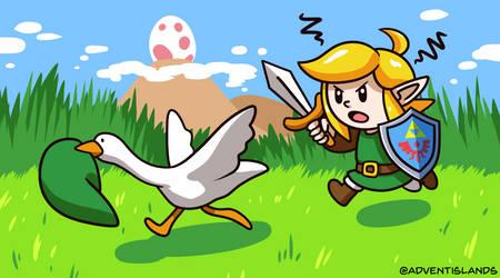 Untitled Goose Game + Link's Awakening