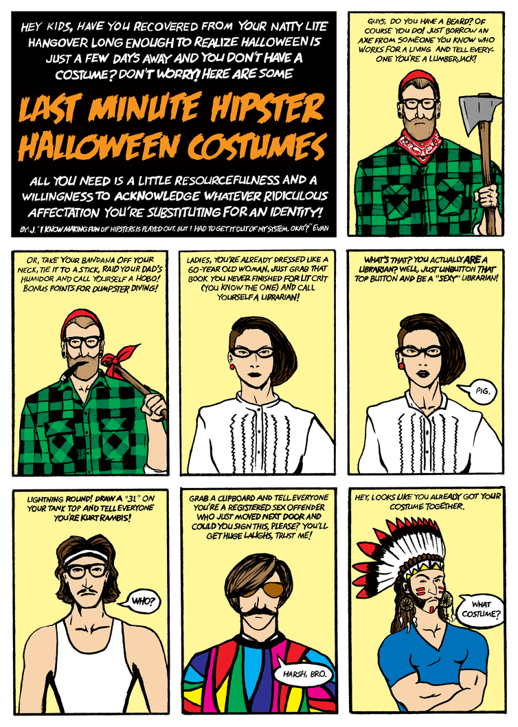 Hipster Halloween Costumes by jevanlee on DeviantArt