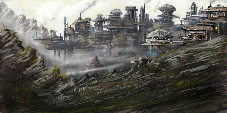 Mining Town by Breezinn