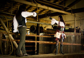 Steampunk - The duel by TheOuroboros