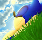 Snoozy Sonic (speedpaint!)