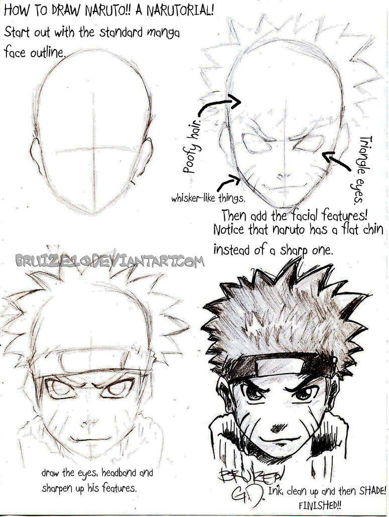 How To Draw Naruto By Bruize10