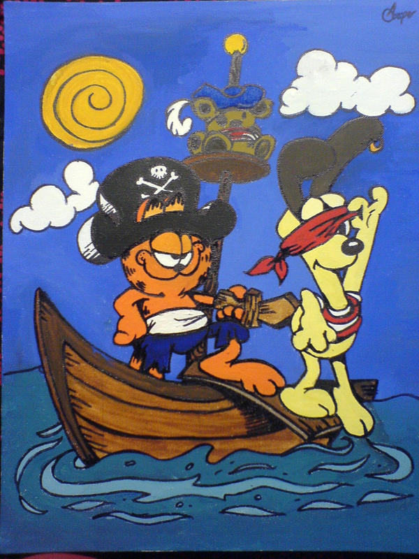 Garfield And Odie Play Pirates By Groteskiprincessa On Deviantart
