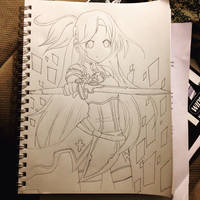 Asuna SAO request by ThruMyEyes511