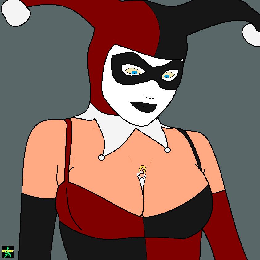 Harley Quinn vs Power Girl 01 by michelle-the-monster