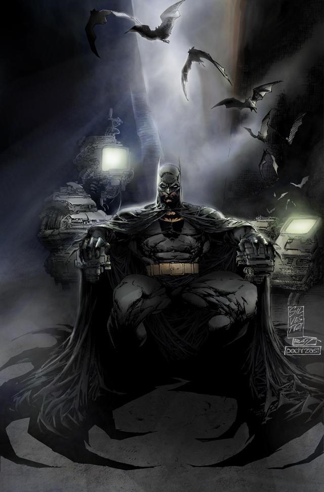 Imagenes de Calidad (no-anime) Batman___Colored___by_pochrzas