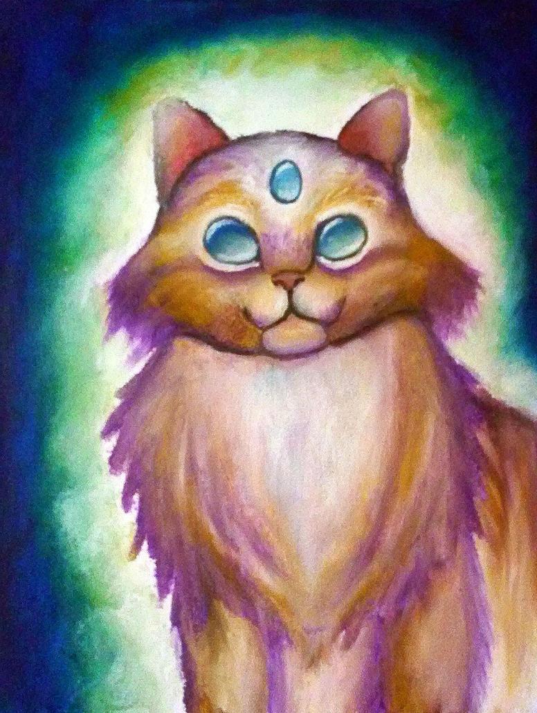 Paintstik Cat by Sabhira
