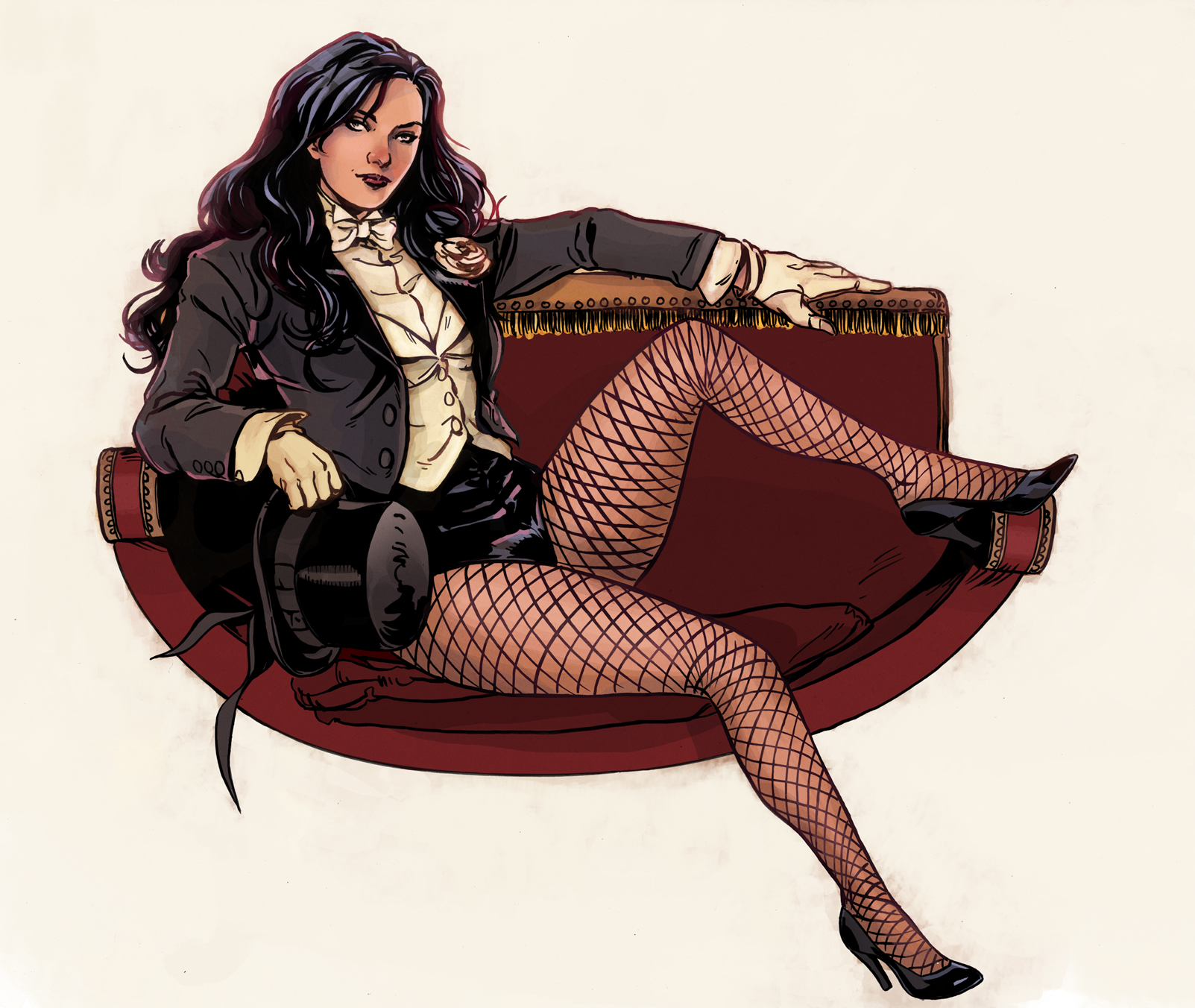 Zatanna commission full colour by MarcLaming