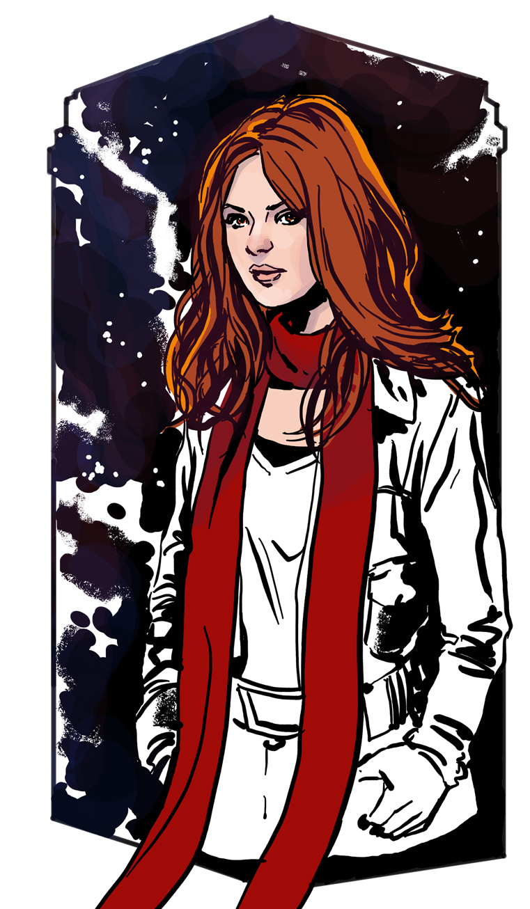 Amy Pond sketch by MarcLaming