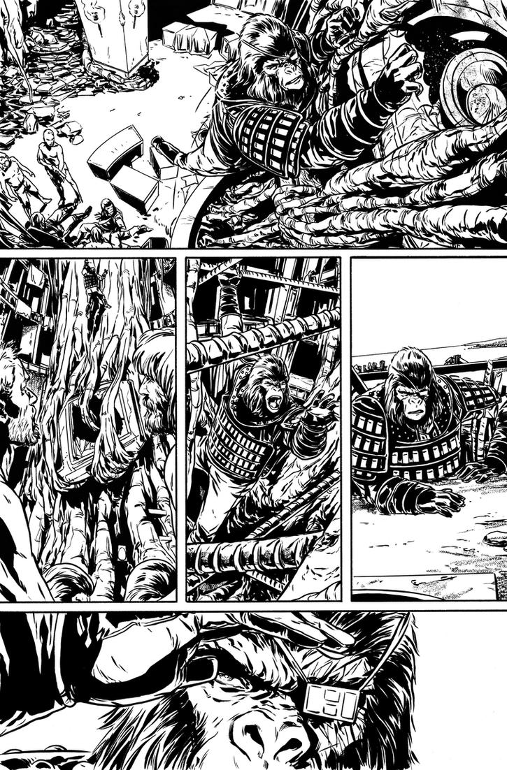 Exile on the POTA issue 3 inks by MarcLaming