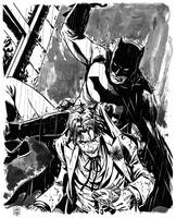 Batman and The Joker commission by MarcLaming