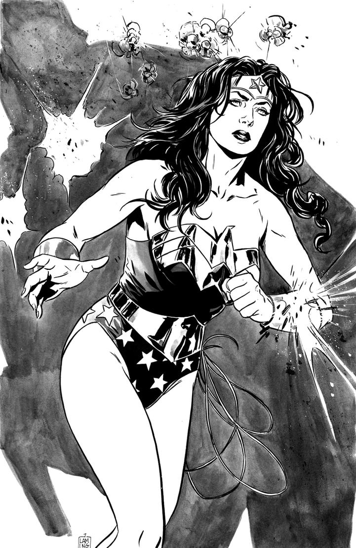 Wonder Woman inks by MarcLaming